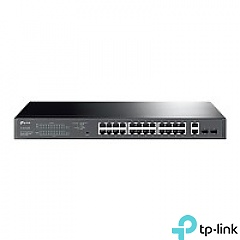Smart switch, 26x 10/100/1000 RJ-45, 2x SFP, PoE+ (TP-Link TL-SG1428PE)