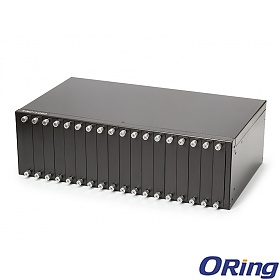 RMC-1000, Industrial rack-mount Ethernet to fiber media converter Chassis with 18 slots