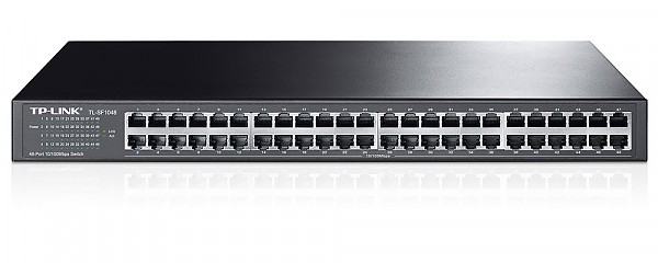 TP-Link TL-SF1048, Unmanaged switch, 48x 10/100 RJ-45, 19""