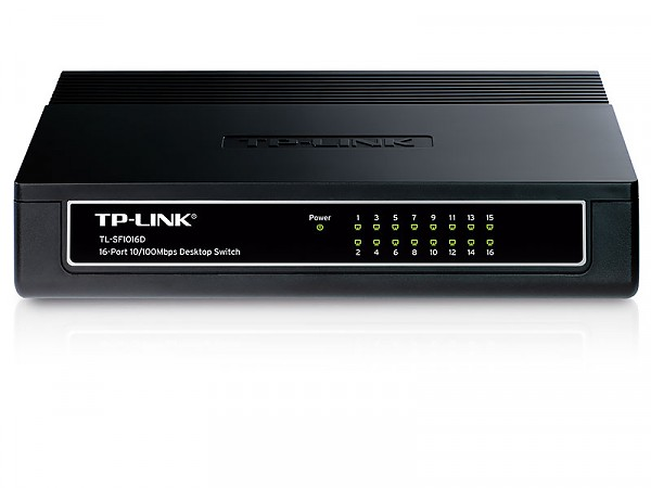 TP-Link TL-SF1016D, Unmanaged switch, 16x 10/100 RJ-45, desktop