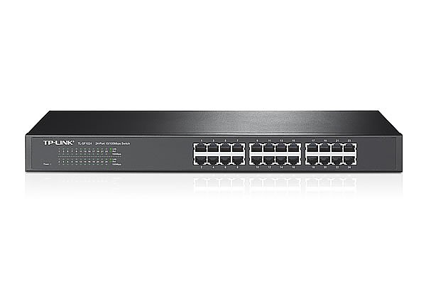 TP-Link TL-SF1024, Unmanaged switch, 24x 10/100 RJ-45, 19""