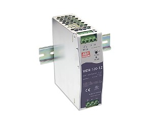 Power supply 120W 12VDC, P.F.C., DIN TS35 (Mean Well WDR-120-12)