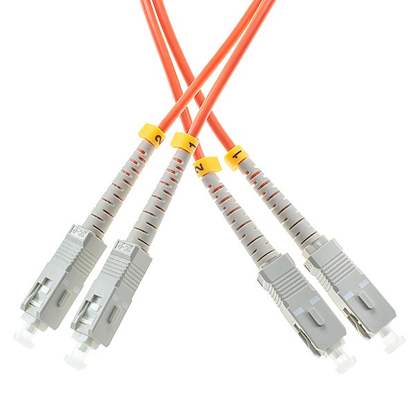 Fiber optic patch cord, SC/UPC-SC/UPC, MM, 50/125 duplex, OM2 fiber 3.0mm, L=1m